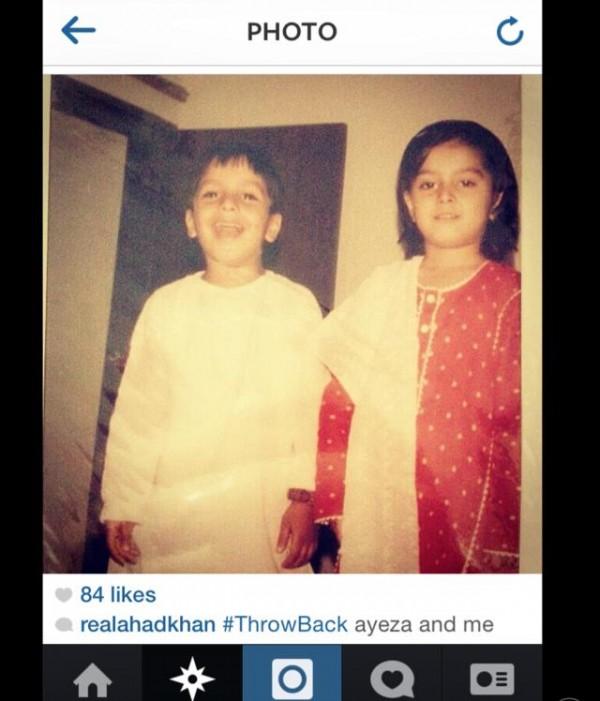 Ayeza Khan and his brother