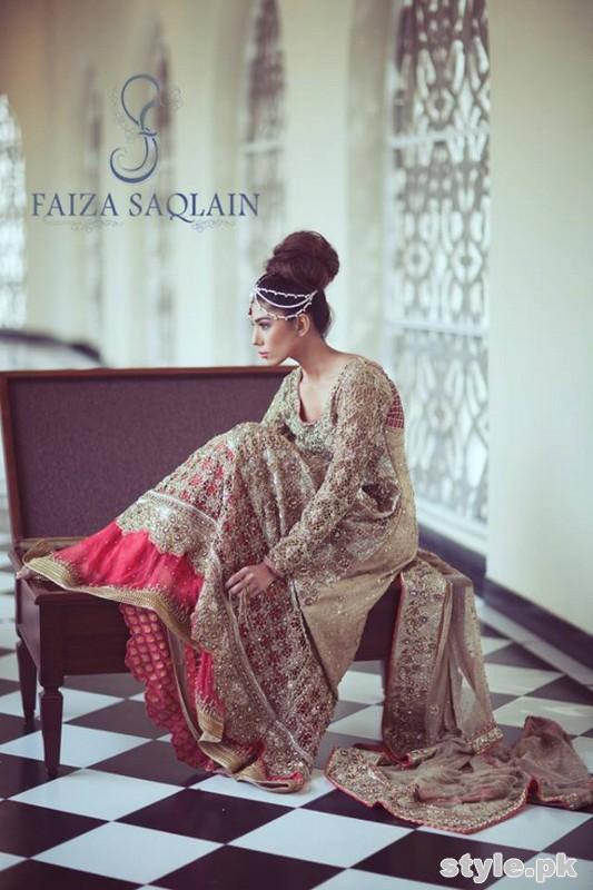 Faiza Saqlain Bridal Wear Dresses 2015 For Girls 1