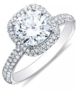 New Designs Of Cushion Cut Engagement Rings 001