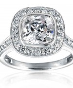 New Designs Of Cushion Cut Engagement Rings 0012