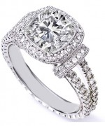 New Designs Of Cushion Cut Engagement Rings 005