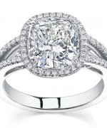 New Designs Of Cushion Cut Engagement Rings 009