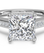 New Designs Of Princess Cut Engagement Rings 002