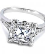 New Designs Of Princess Cut Engagement Rings 004