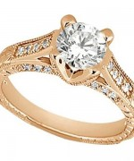 New Rose Gold Engagement Rings For Women 001