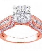 New Rose Gold Engagement Rings For Women 0011