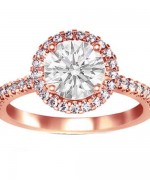 New Rose Gold Engagement Rings For Women 0014