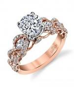 New Rose Gold Engagement Rings For Women 005