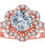 New Rose Gold Engagement Rings For Women 007