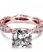 New Rose Gold Engagement Rings For Women 009