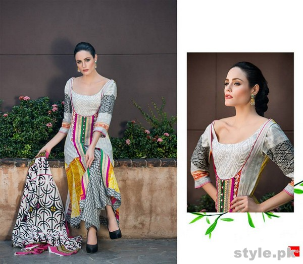 Riwaj Lawn Dresses 2015 by Shariq Textiles 13