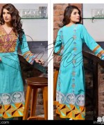 Rujhan Fabric Zunia Embrodiered Collection 2015 Volume 2 8
