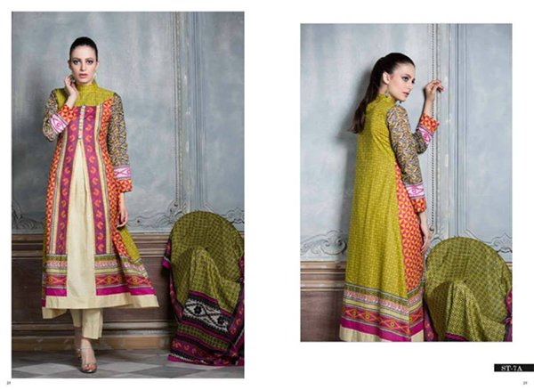 Shariq Textiles Subhata Prints Collection 2015 For Women 003