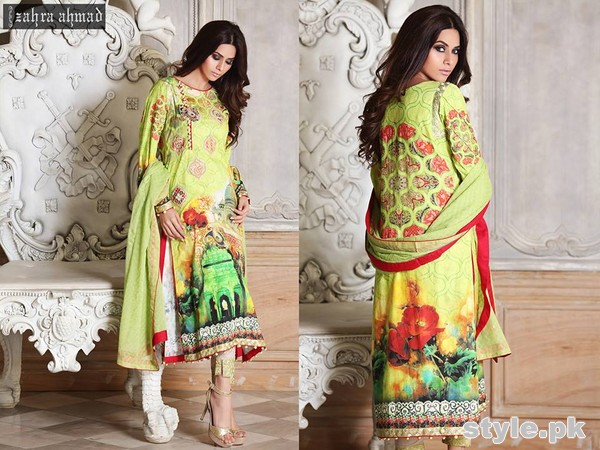 Zahra Ahmad Lawn Dresses 2015 For Summer 5