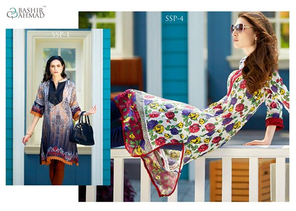 Bashir Ahmad Textiles Single Shirts Collection 2015 For Women 0010