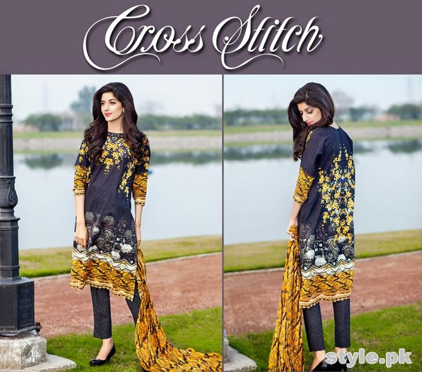 Cross Stitch Lawn Dresses 2015 For Summer 2