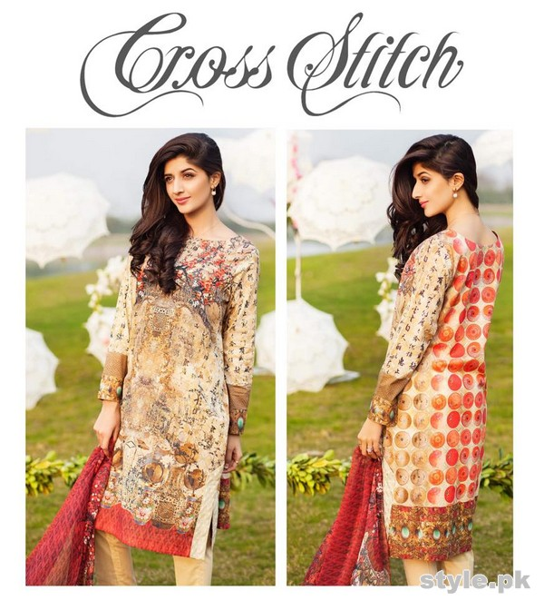 Cross Stitch Lawn Dresses 2015 For Summer 7