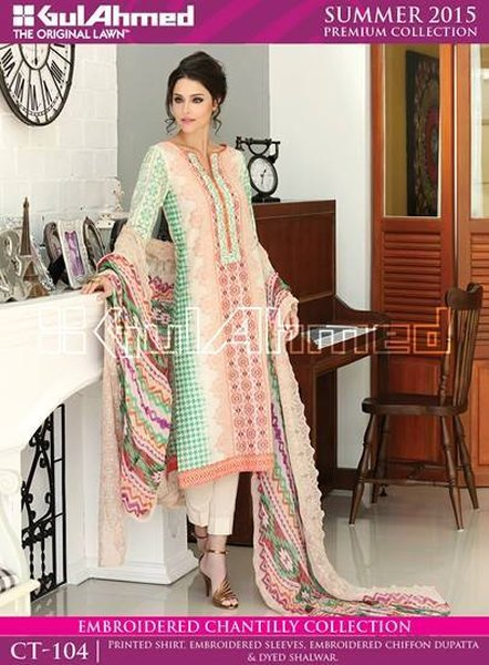 Gul Ahmed Lawn Collection 2015 Volume 1 For Women 0017