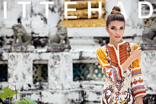 Ittehad Textiles Crystal Lawn Collection 2015 For Women 004