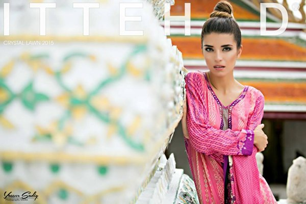 Ittehad Textiles Crystal Lawn Collection 2015 For Women 007