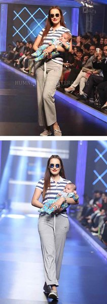 Nadia Hussain Walks On The Ramp With Her Baby 001
