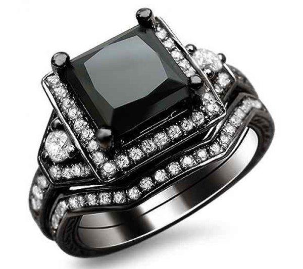 New Designs Of Black Diamond Rings 2015 0011