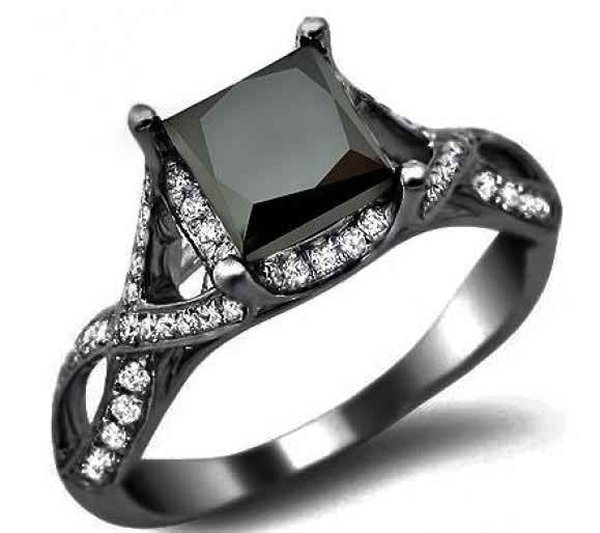 New Designs Of Black Diamond Rings 2015 002