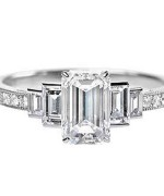 New Designs Of Emerald Cut Engagement Rings 2015 0010