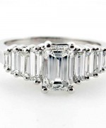New Designs Of Emerald Cut Engagement Rings 2015 0015