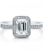 New Designs Of Emerald Cut Engagement Rings 2015 002