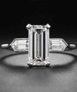 New Designs Of Emerald Cut Engagement Rings 2015 003