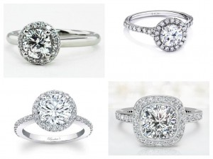 New Designs Of Halo Engagement Rings 2015