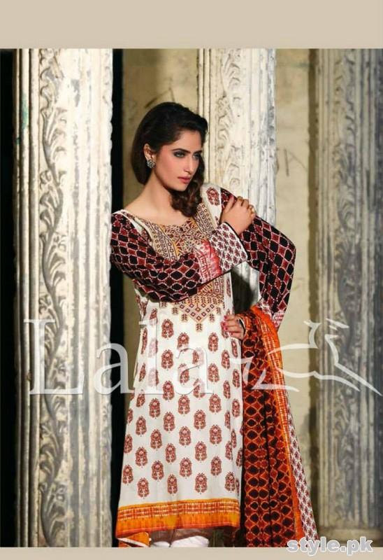 Sana and Samia Lawn Dresses 2015 by Lala 16