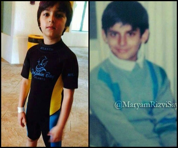 fawad khan and his son