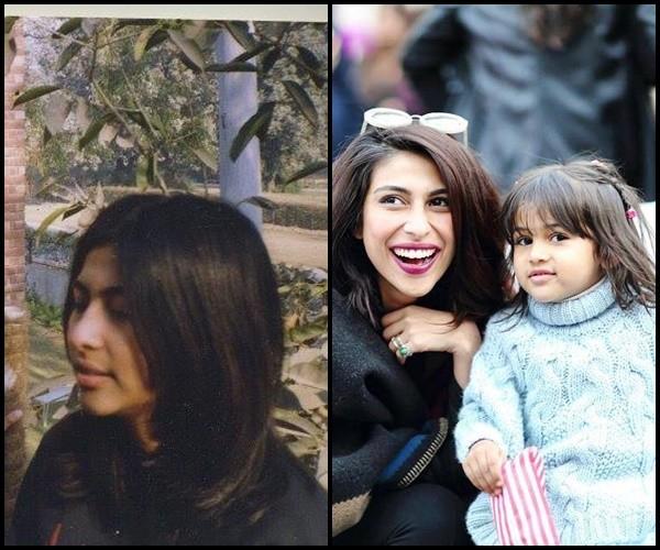 meesha shafi childhood vs her daughter