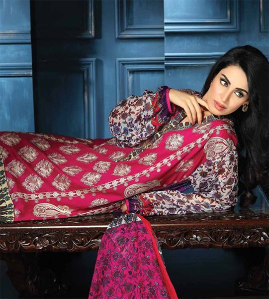 Shariq Textiles Feminine Lawn Collection 2015 For Women 001
