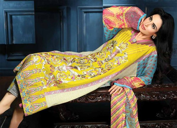 Shariq Textiles Feminine Lawn Collection 2015 For Women