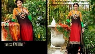 Tabassum Mughal Lawn Dresses 2015 by Al-Zohaib Textile 9