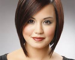 Hairstyle for round face