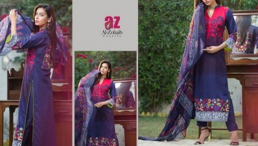 Mahnoor Embroidered Eid Dresses 2015 by Al-Zohaib Textile 4