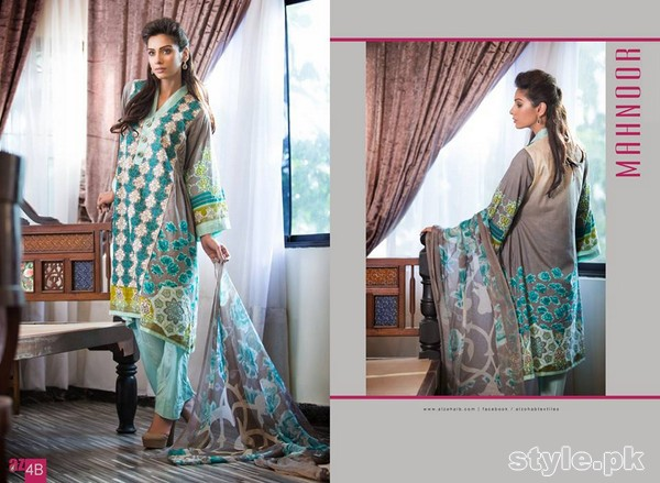 Mahnoor Embroidered Eid Dresses 2015 by Al-Zohaib Textile 5