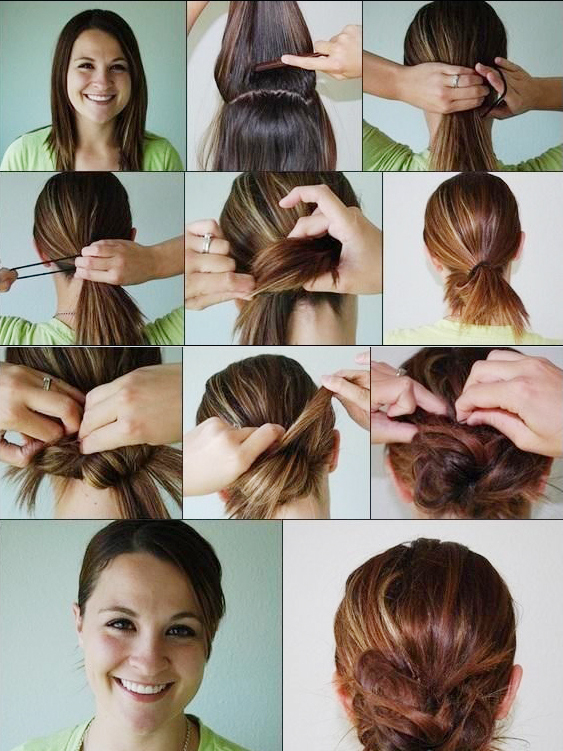 See how to make a messy bun
