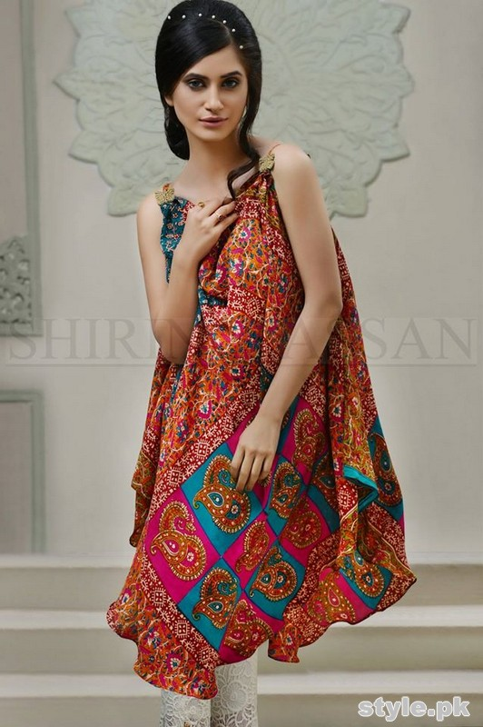 Shirin Hassan Eid Dresses 2015 For Girls 1