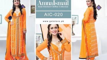Amna Ismail Chiffon Dresses 2015 For Women 3