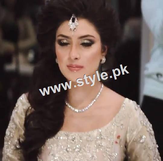 See Ayeza Khan as a signature bride of Natashas Salon