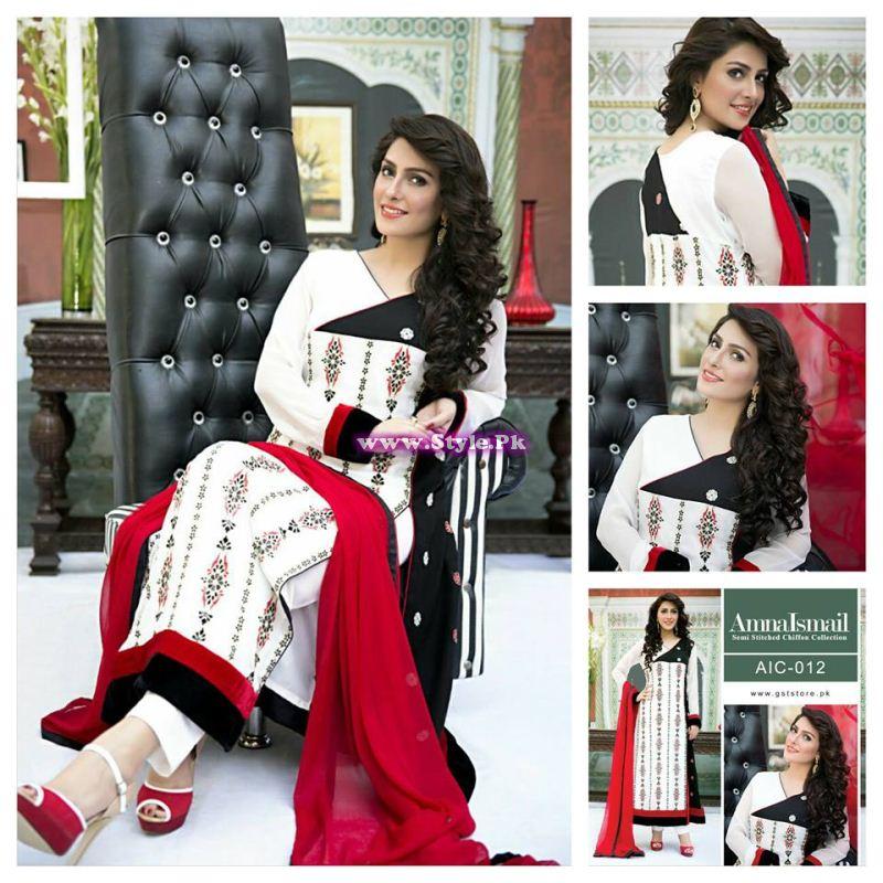 See Ayeza Khan presenting Amna Ismail's Chiffon Collection of 2015