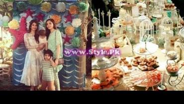 See Birthday celebrations of Syra and Shehroz's baby