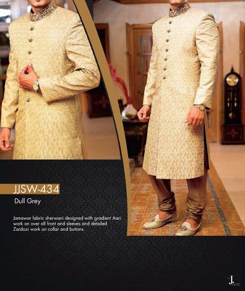 Junaid Jamshed Sherwani collection 2015 For Men009