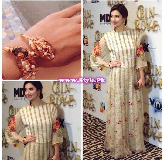 See Mahira Khan's looks for promotion of her movie Bin Roye