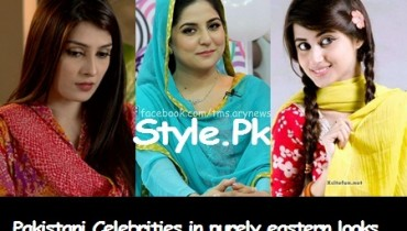 See Pakistani Celebrities in purely eastern looks